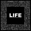 Life word cloud illustration tag cloud concept collage Stock Photography