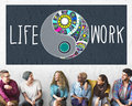 Life work balance functional nature active style concept Royalty Free Stock Photography