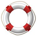 Lifebelt lifebuoy isolated on white high detailed Stock Image