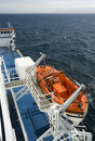 Lifeboat on a Cruise Ship Royalty Free Stock Photo