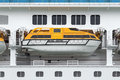 Lifeboat on a cruise ship Stock Photography