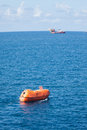 Lifeboat or rescue boat in offshore safety standard in offshore oil and gas Royalty Free Stock Photography