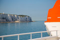 Lifeboat on the ship in britsh channel Stock Image