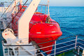Lifeboat on a ship Royalty Free Stock Photo