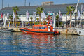 Lifeboat a spanish on display at a yacht race in spain Stock Photography