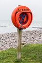 Lifebuoy a on a beach Royalty Free Stock Photo
