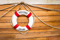 Lifebuoy on a boat Royalty Free Stock Photo