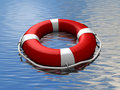 Lifebuoy floating Royalty Free Stock Photo