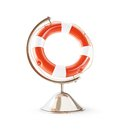 Lifebuoy globe d illustrations on a white background Stock Photography