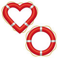 Lifebuoy heart Royalty Free Stock Image