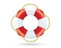 Lifebuoy Icon On White
