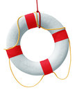 Lifebuoy isolated in white background clipping path included Royalty Free Stock Image