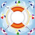 Lifebuoy over water Royalty Free Stock Image