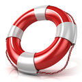 Lifebuoy right side view isolated on white background Royalty Free Stock Photography