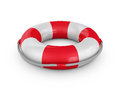 Lifebuoy with rope on a white background d render Stock Photography