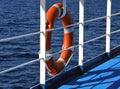Lifebuoy and sea Royalty Free Stock Photo