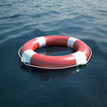 Lifebuoy in the sea ocean d illustration high resolution Stock Photo