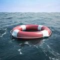 Lifebuoy in the sea ocean d illustration high resolution Stock Photos