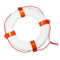 Lifebuoy on white Royalty Free Stock Photo