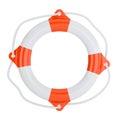 Lifebuoy  on white  background Royalty Free Stock Photo