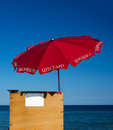 Lifeguard beach umbrella Royalty Free Stock Photo