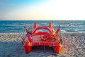 Lifeguard boat Royalty Free Stock Photo