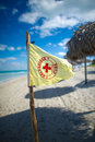 Lifeguard flag,cuba Royalty Free Stock Image