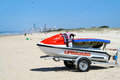Lifeguard Jet Ski Stock Photography