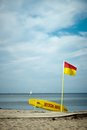 Lifeguard post at bellvue beach near copenhagen Stock Photography