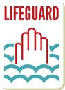 Lifeguard sign vector illustration of the Royalty Free Stock Image