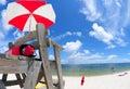 Lifeguard stand at beach Royalty Free Stock Photo