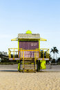 Lifeguard Stand in Miami Royalty Free Stock Photo