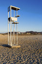 Lifeguard station beach afternoon sun Royalty Free Stock Photo