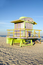 Lifeguard station South Beach Miami Florida Royalty Free Stock Photos