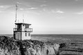 Lifeguard Station At Sunset In...
