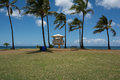 Lifeguard tower in haleiwa oahu a view of a hawaii Stock Photo