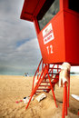 Lifeguard tower in Hawaii Royalty Free Stock Image