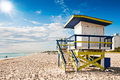 Lifeguard Tower in Miami Beach Stock Image
