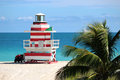 Lifeguard Tower in Miami Beach Royalty Free Stock Photo