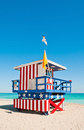 Lifeguard Tower in Miami Beach, USA Royalty Free Stock Photo