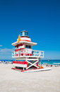Lifeguard Tower in Miami Beach, USA Royalty Free Stock Photos