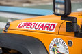 Lifeguard vehicle san clemente california Royalty Free Stock Photos