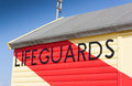 Lifeguards Hut at Southwold, Suffolk, England. Royalty Free Stock Photography