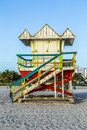 Lifeguards Stand at South Beach Royalty Free Stock Photo