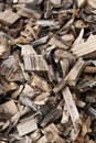 Lifeless wood chips Stock Photos