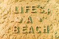 Lifes a beach Royalty Free Stock Photo