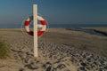 Lifesaver on beach Royalty Free Stock Photo