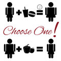 Lifestyle choice pictogram Royalty Free Stock Photo