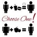 Lifestyle choice pictogram