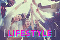 Lifestyle culture way of life interests passion habits concept Royalty Free Stock Photos